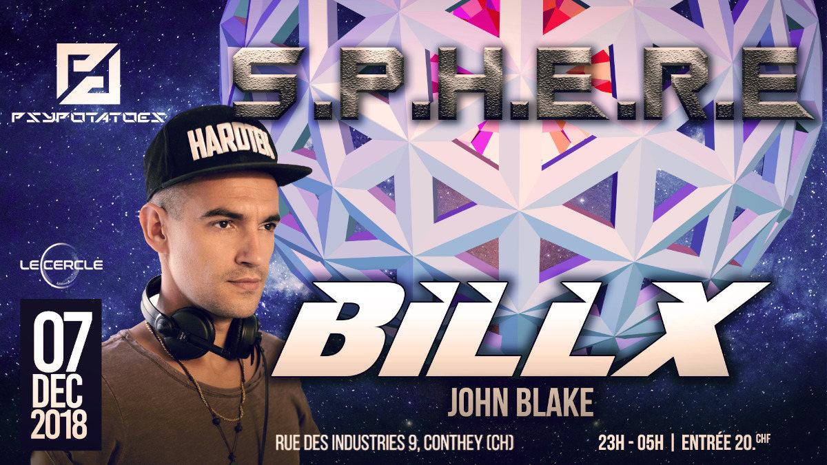 Party Flyer Psypotatoes - Sphere - Billx & John Blake 7 Dec '18, 23:00