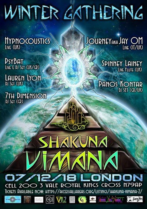 Party Flyer Shakuna Vimana *Winter* Gathering 7 Dec '18, 22:30