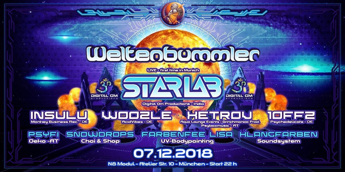 Party Flyer Weltenbummler with StarLab (live) 7 Dec '18, 22:00