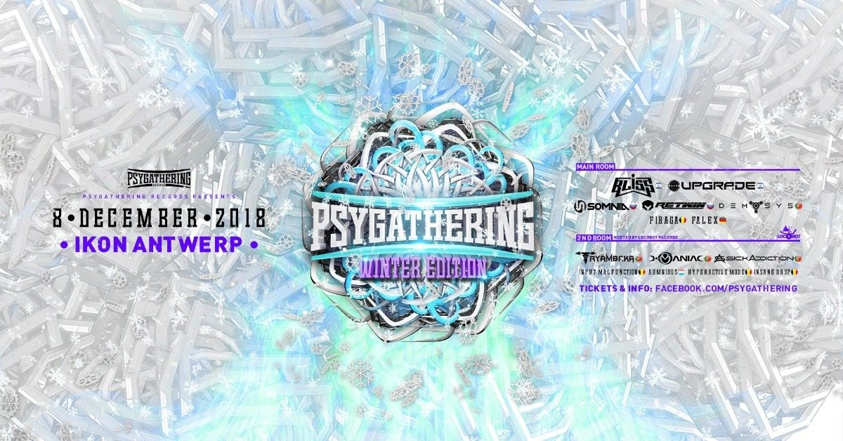 Party Flyer Psygathering Winter edition 2 rooms 8 Dec '18, 23:00