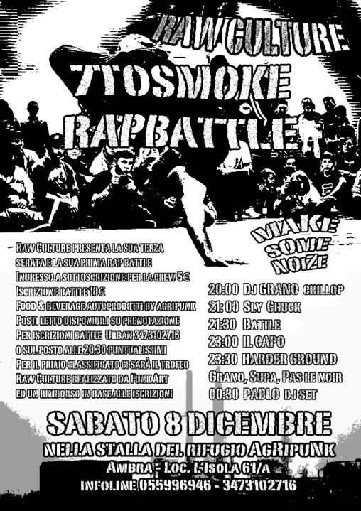 Party Flyer Raw Culture & 7 To Smoke Rap Battle 8 Dec '18, 20:00