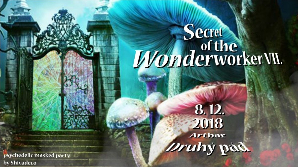 Party Flyer Secret of the Wonderworker VII. - psychedelic masked party 8 Dec '18, 21:00