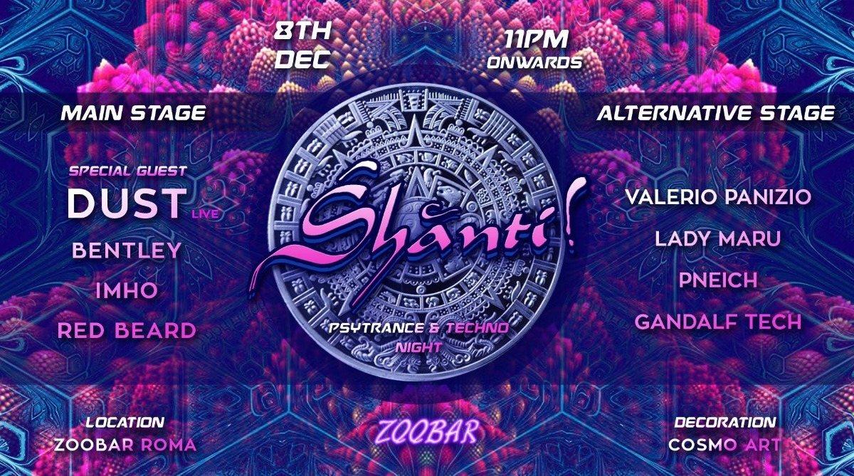 Party Flyer SHANTI 8 Dec '18, 23:00