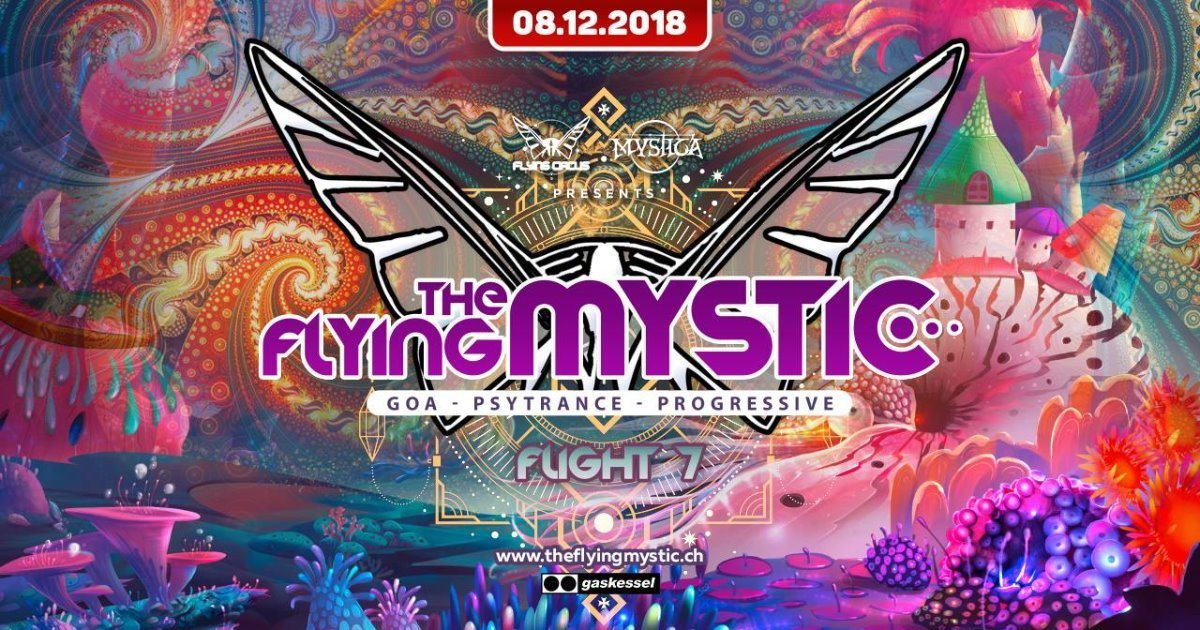 Party Flyer THE FLYING MYSTIC - Flight 7 - 8 Dec '18, 22:00
