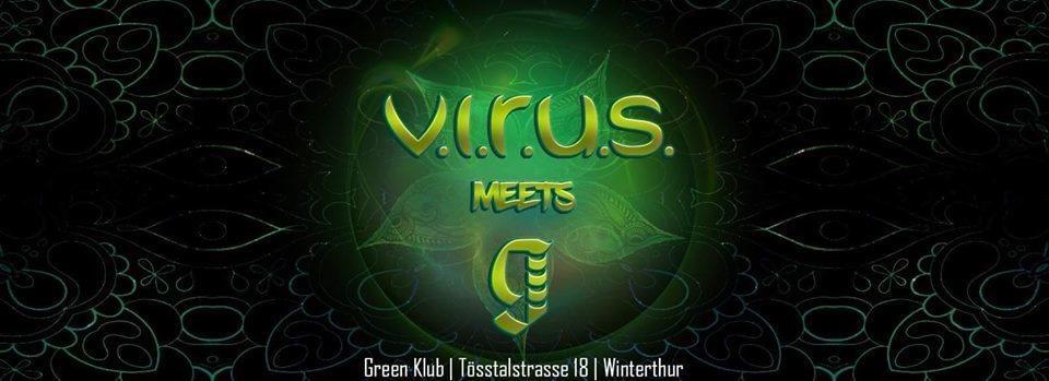 Party Flyer V.I.R.U.S.meets Green CLUB 8 Dec '18, 22:00