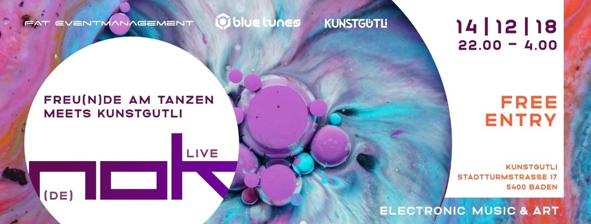 Party Flyer FREU(N)DE AM TANZEN meets KUNSTGÜTLI w/ NOK 14 Dec '18, 22:00