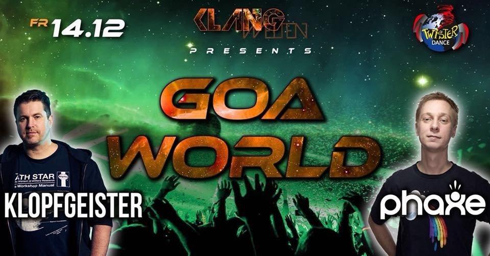 Party Flyer Goa World Festival/ 4 Floors/ Phaxe live/ Klopfgeister live 14 Dec '18, 22:00