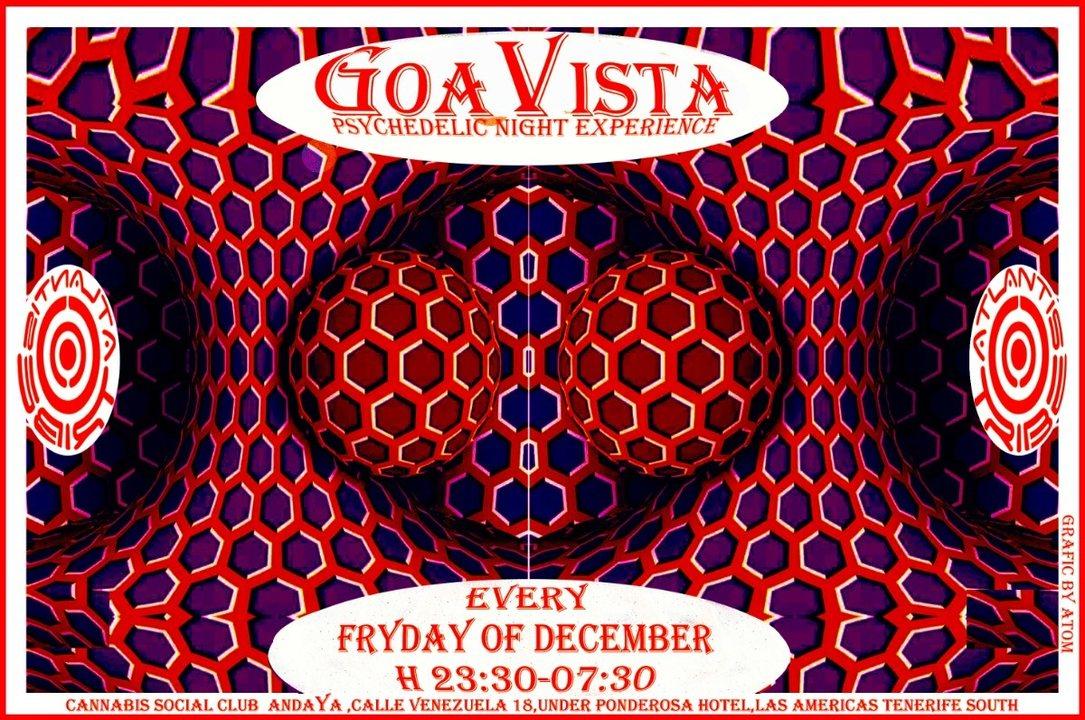 Party Flyer GOAVISTA- ATLANTIS TRIBE CLUB PARTY-EVERY FRIDAY OF DECEMBER! 14 Dec '18, 22:00