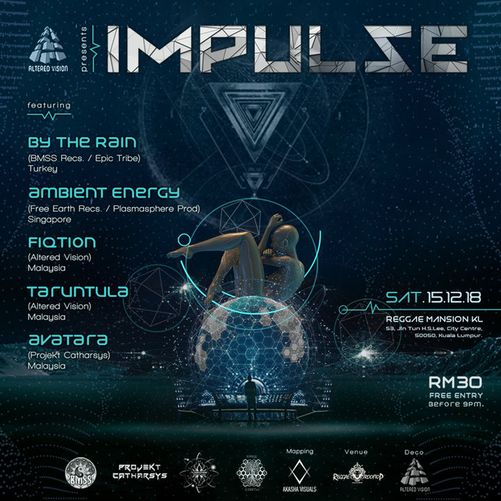 Party Flyer Altered Vision // Impulse 15 Dec '18, 17:00