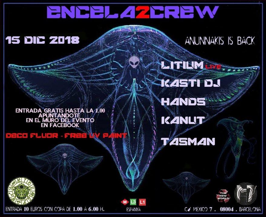 Party Flyer ENCELA2CREW PRESENTS: ANUNNAKIS IS BACK 15 Dec '18, 23:30