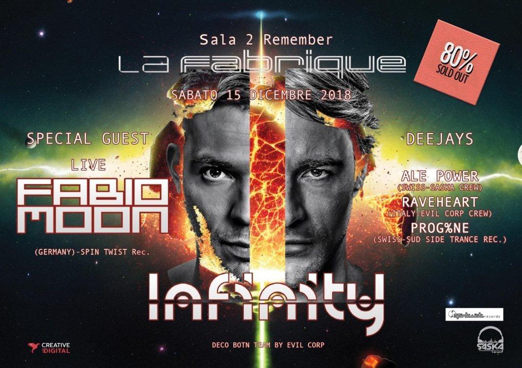 Party Flyer Infinity Present Fabio&Moon Live 15 Dec '18, 23:30