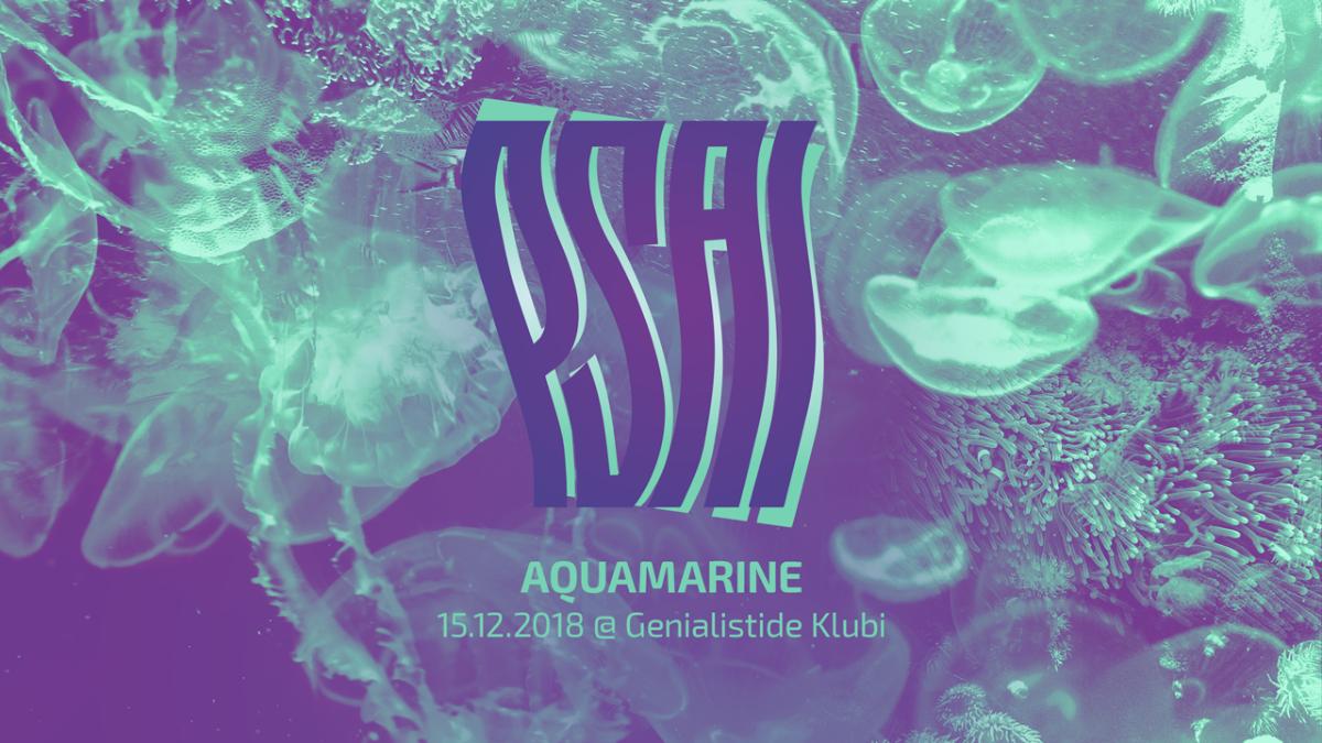Party Flyer PSAI V: Aquamarine 15 Dec '18, 22:00
