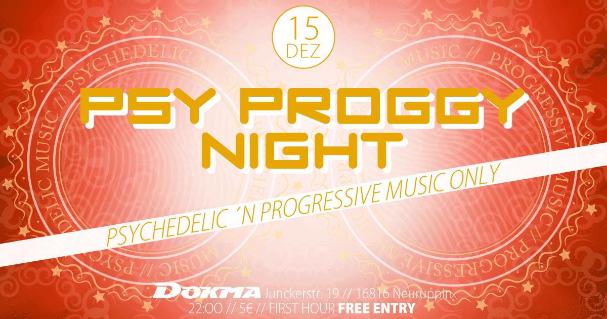 Party Flyer Psy Proggy Night 15 Dec '18, 22:00