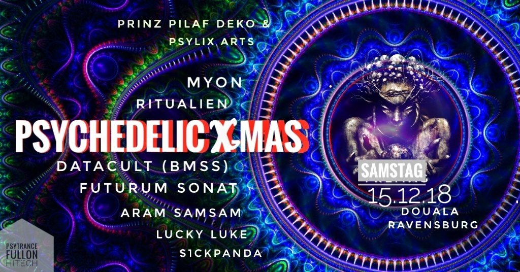 Party Flyer Psychedelic X-Mas 15 Dec '18, 22:00