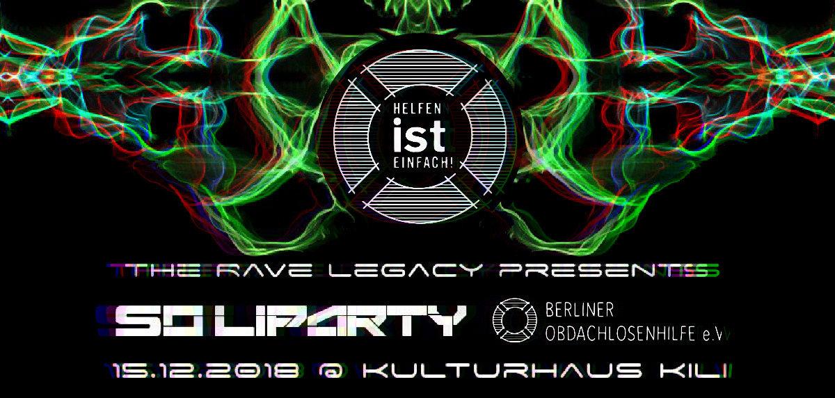 Party Flyer Solidaritäts Party Berliner Obdachlosen Hilfe e.V. 15 Dec '18, 22:00