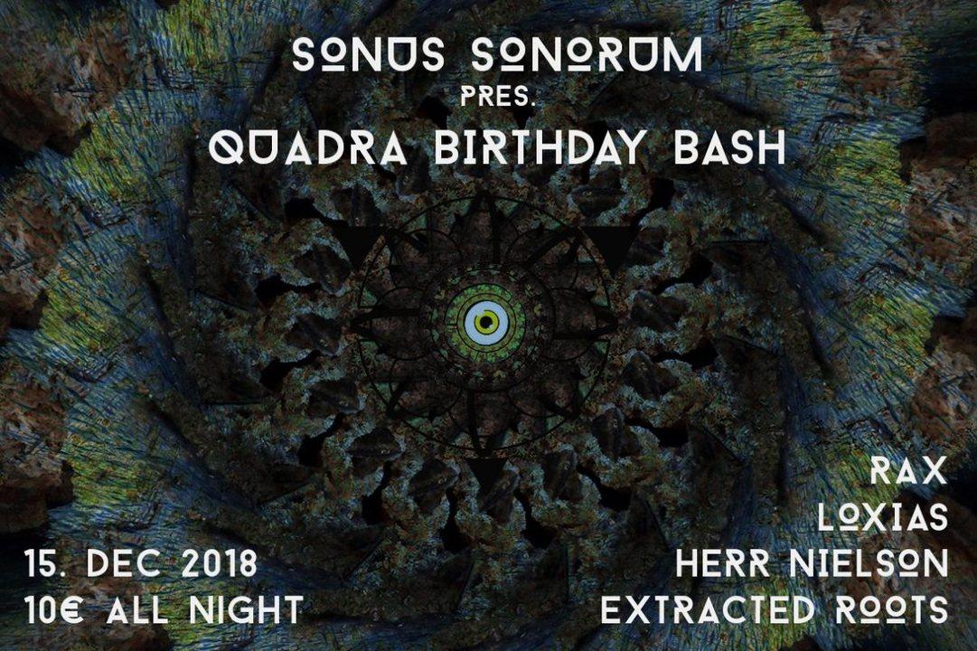 Party Flyer Sonus Sonorum Birthday Bash 15 Dec '18, 22:00