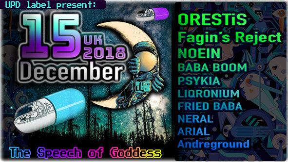 Party Flyer The Speech of Goddess 15 Dec '18, 22:00