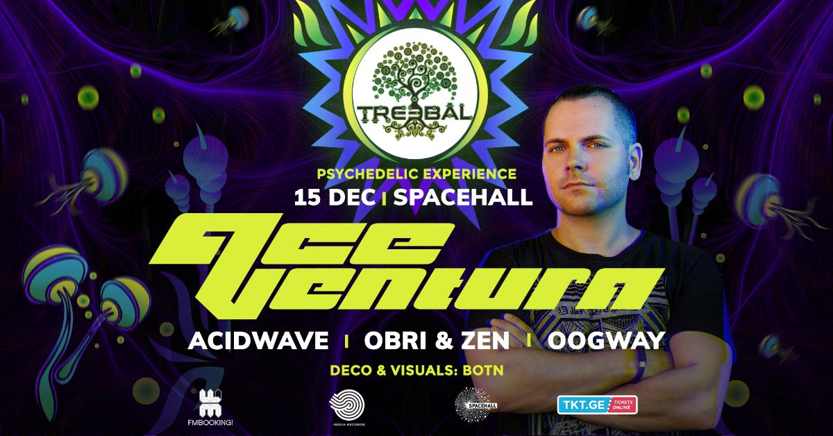 Party Flyer TREEBAL: ACE VENTURA • ACIDWAVE • OBRI & ZEN • OOGWAY at SPACEHALL 15 Dec '18, 23:00