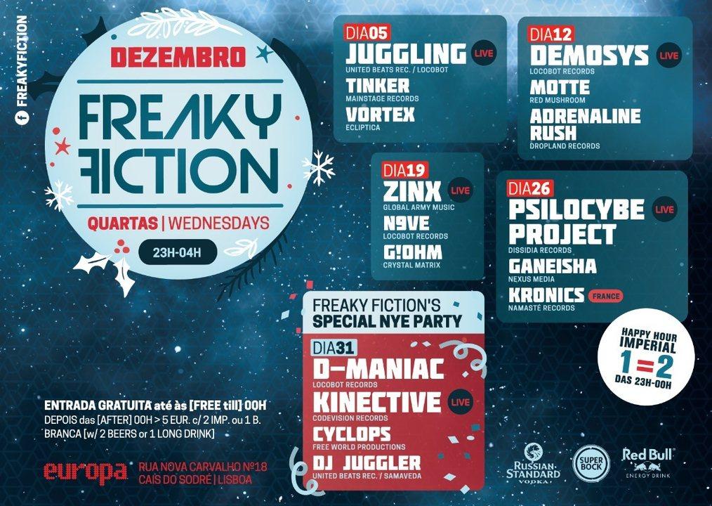 Party Flyer FREAKY FICTION 19 Dec '18, 23:00
