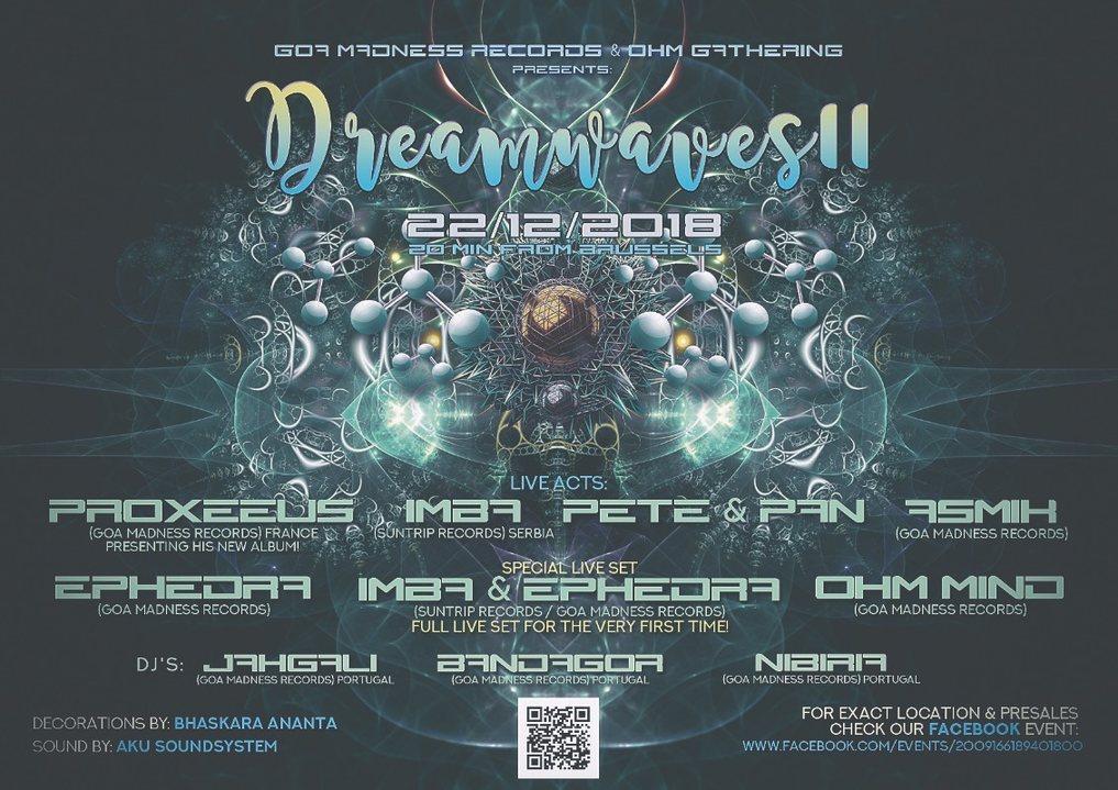 Party Flyer Dreamwaves II 22 Dec '18, 20:00