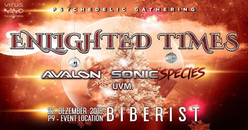 Party Flyer ENLIGHTED TIMES #AVALON #SONICSPECIES 22 Dec '18, 22:00