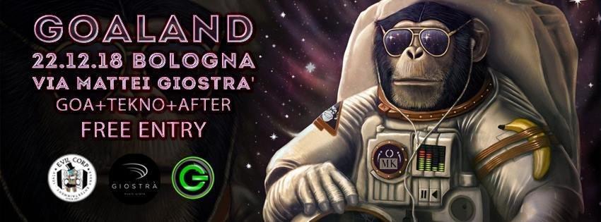 Party Flyer Goaland + After (Free Entry) Goa + Tekno 22 Dec '18, 23:00