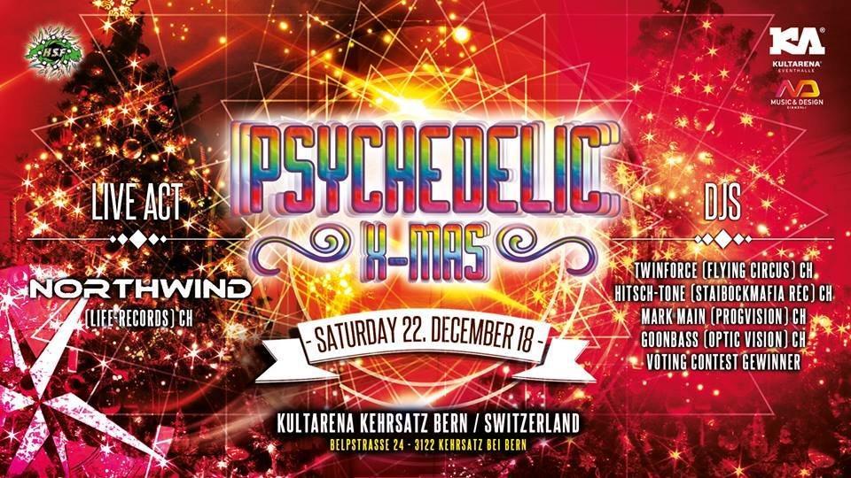 Party Flyer Psychedelic X-MAS 22 Dec '18, 21:00
