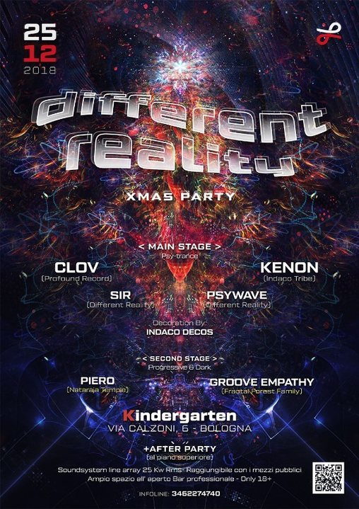 Party Flyer Different Reality XMas Party + After 25 Dec '18, 23:00