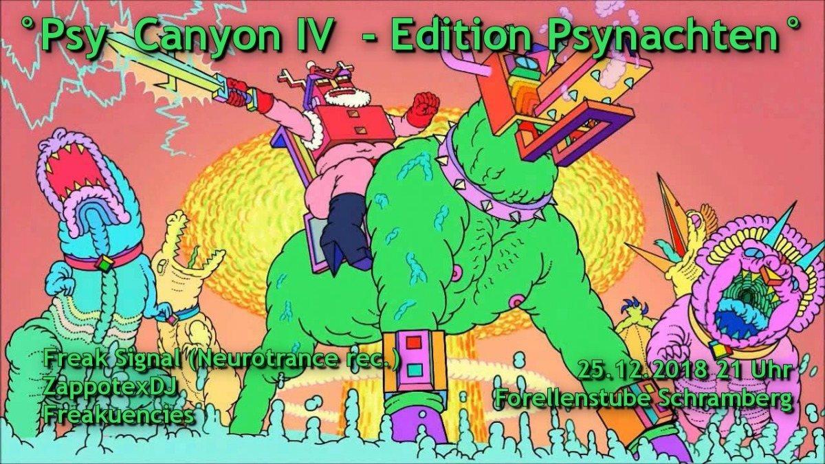 Party Flyer °Psy Canyon IV *Edition Psynachten° 25 Dec '18, 21:00