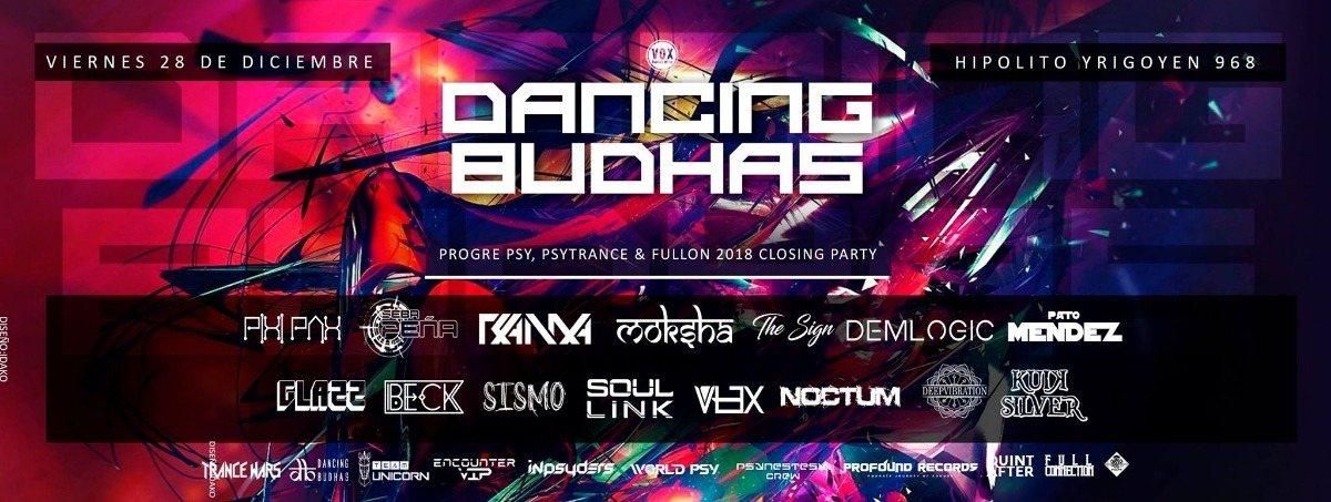 Party Flyer Dancing Budhas 2018's Closing Party (2 Dancefloors) 28 Dec '18, 23:00