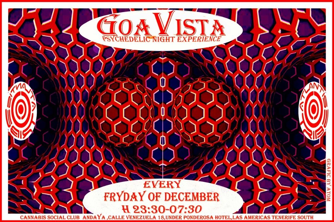 Party Flyer GOAVISTA- ATLANTIS TRIBE CLUB PARTY-EVERY FRIDAY OF DECEMBER! 28 Dec '18, 22:00