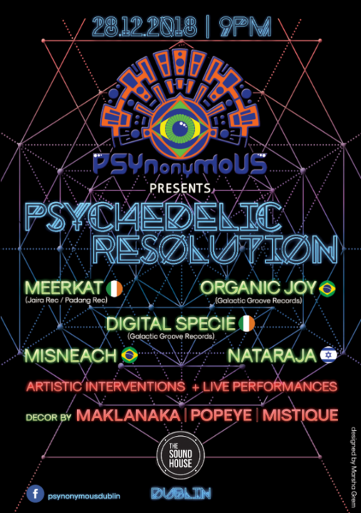 Psynonymous - Psychedelic Resolution 28 Dec '18, 21:00