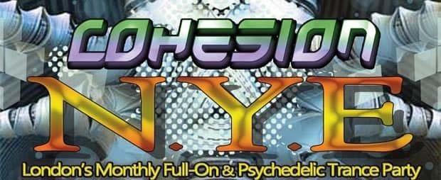 Party Flyer Cohesion NYE @ Club 414 Brixton. 31 Dec '18, 22:00