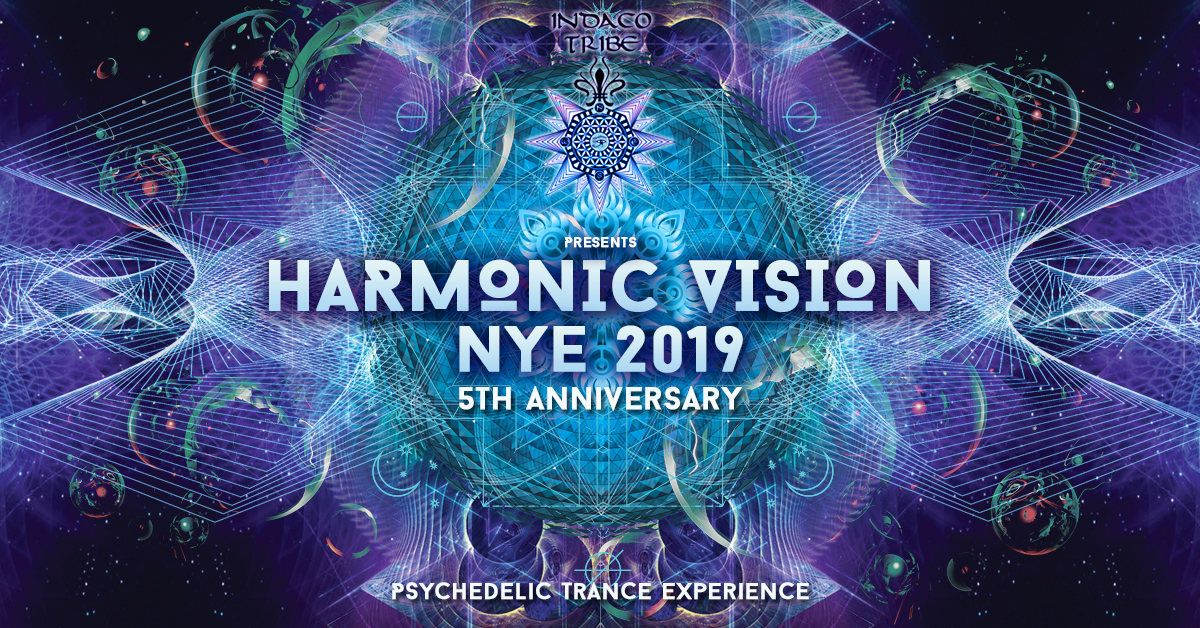 Party Flyer HARMONIC VISION 2019 New Years Eve - 2 Stages 31 Dec '18, 22:30