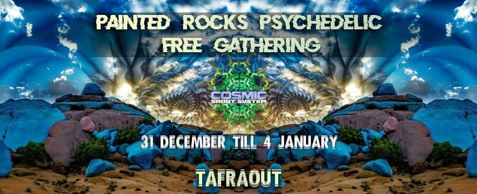 Party Flyer Painted rocks psychedelic free gathering 31 Dec '18, 14:00