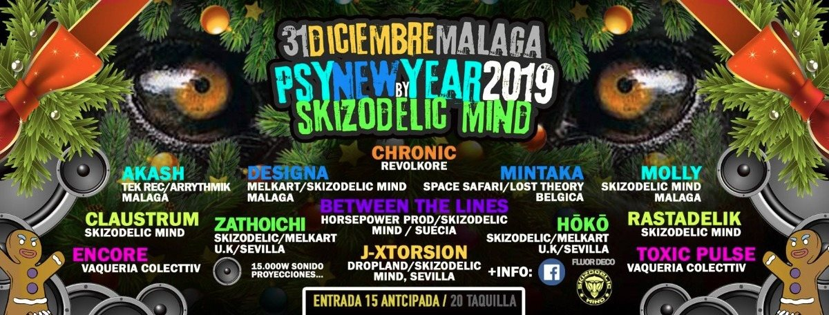 Party Flyer Psy-New/Years 2019 By Skizodelic Mind 31 Dec '18, 22:00