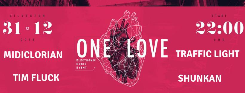 Party Flyer Psyfloor @ One Love Silvester Festival ,Hans Bunte Eventareal,4Floors Freiburg 31 Dec '18, 23:00