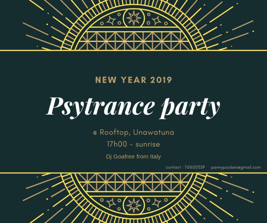Party Flyer Psytrance New Year party 31 Dec '18, 20:00