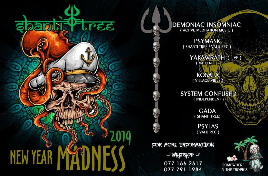 Party Flyer Shanti Tree New Year Madness 2019 31 Dec '18, 17:00