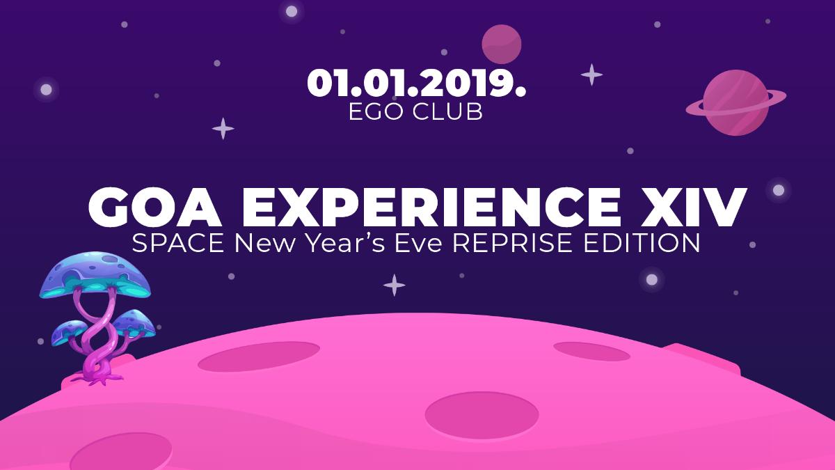 Party Flyer GOA EXPERIENCE XIV 1 Jan '19, 23:00
