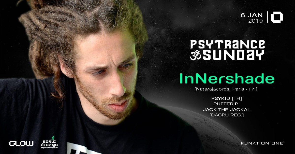 Party Flyer PsyTrance ॐ Sunday at GLOW I InNershade 6 Jan '19, 21:30