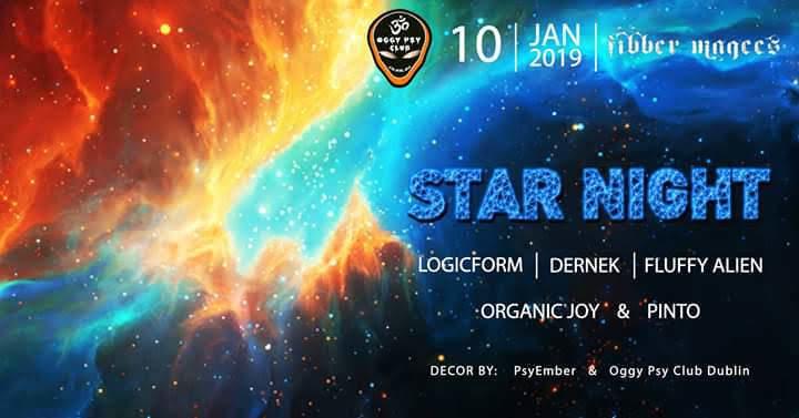 Party Flyer Oggy Club Star Night 10 Jan '19, 20:30