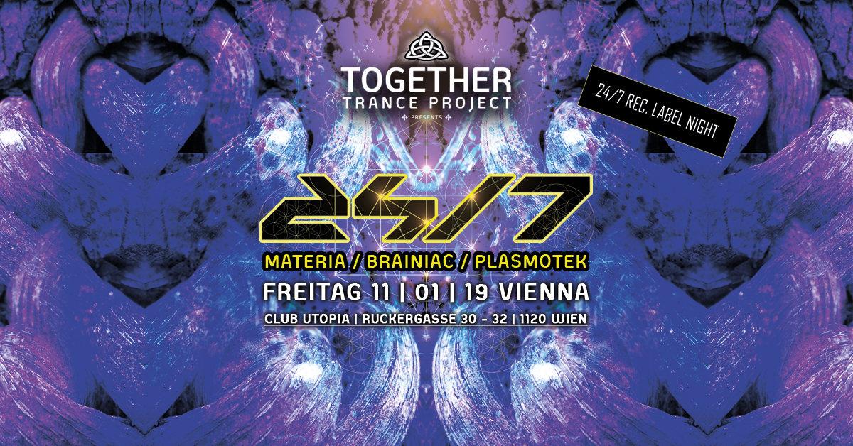 Party Flyer 24/7 Records Label Night mit Materia & Brainiac & Plasmotek 11 Jan '19, 22:00