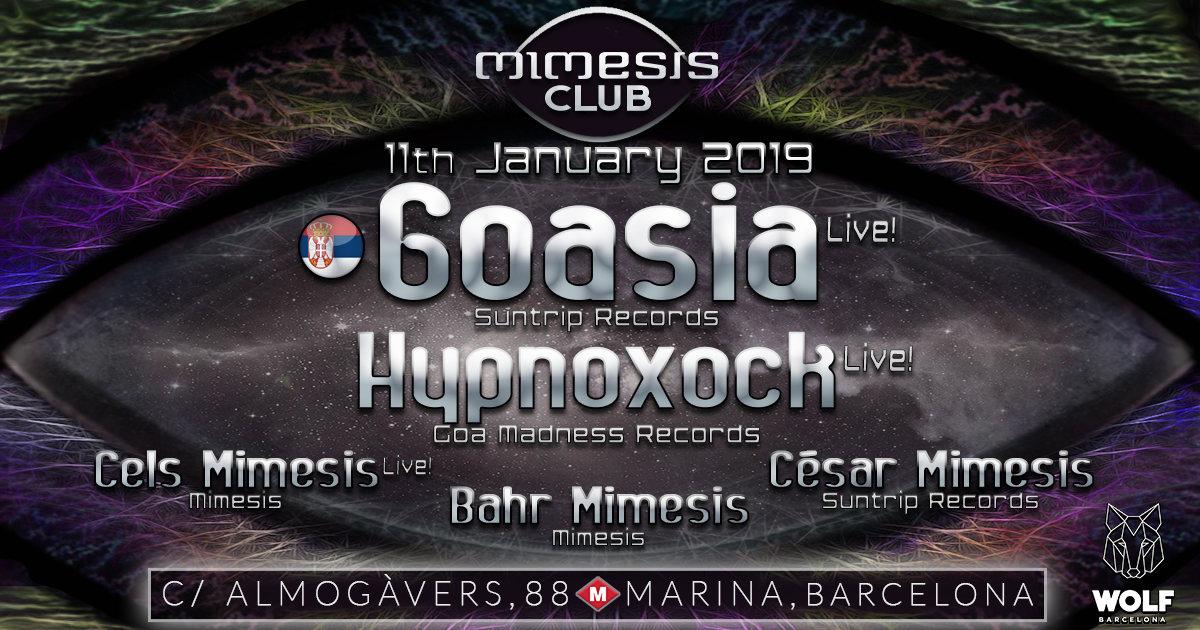 Party Flyer Mimesis CLUB 11 Jan '19, 23:30