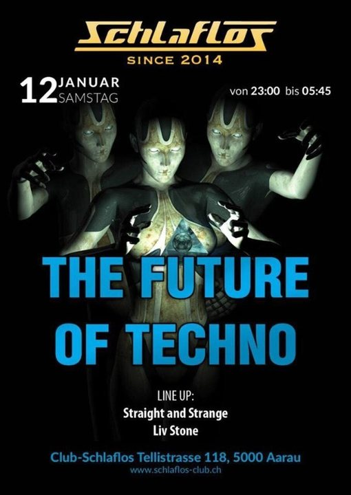 Party Flyer The Future of Techno 12 Jan '19, 23:00