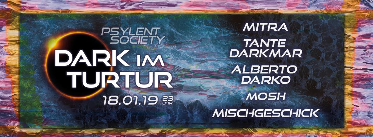 Party Flyer Dark im TurTur #2 18 Jan '19, 22:00
