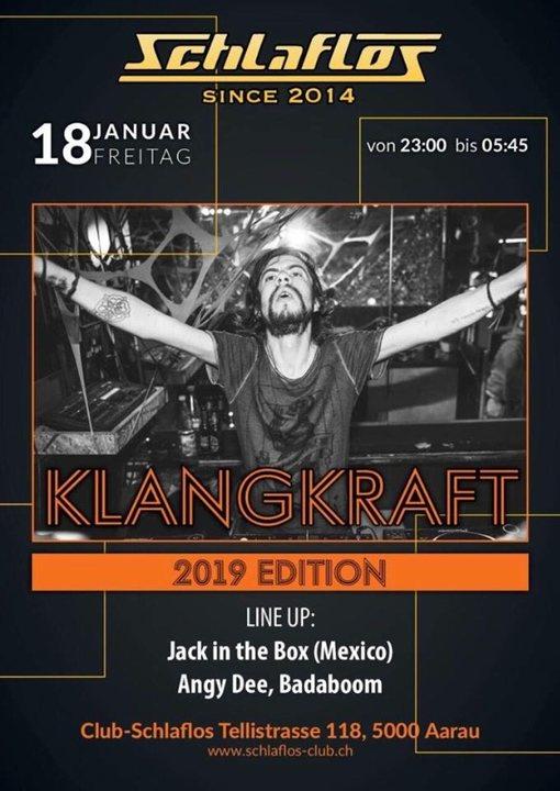 Party Flyer Klangkraft 2019 Edition 18 Jan '19, 23:00