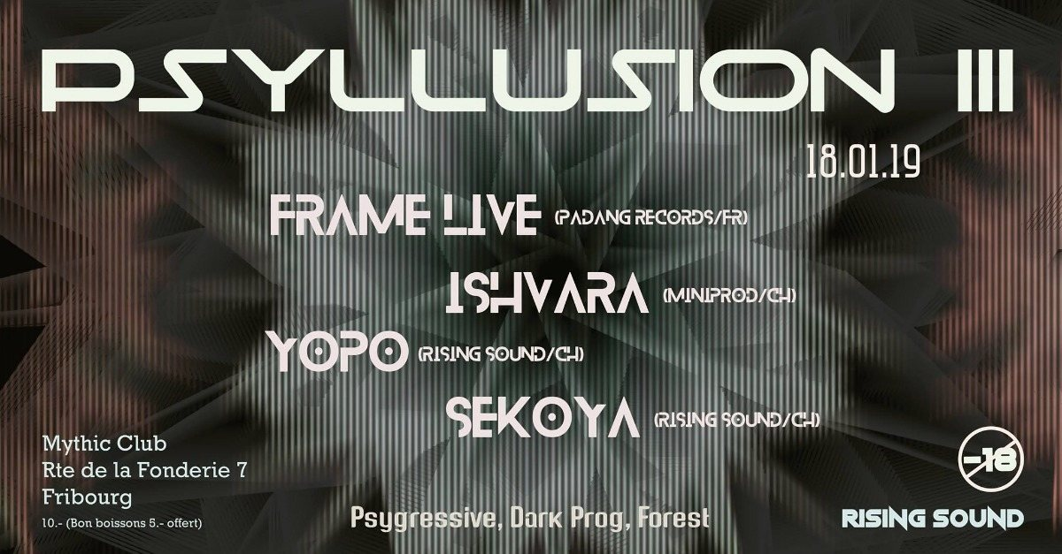 Party Flyer PSYLLUSION III w/ Frame 18 Jan '19, 22:00