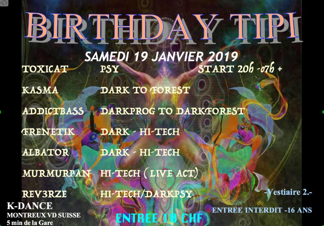 Party Flyer BIRTHDAY TIPI 19 Jan '19, 20:00