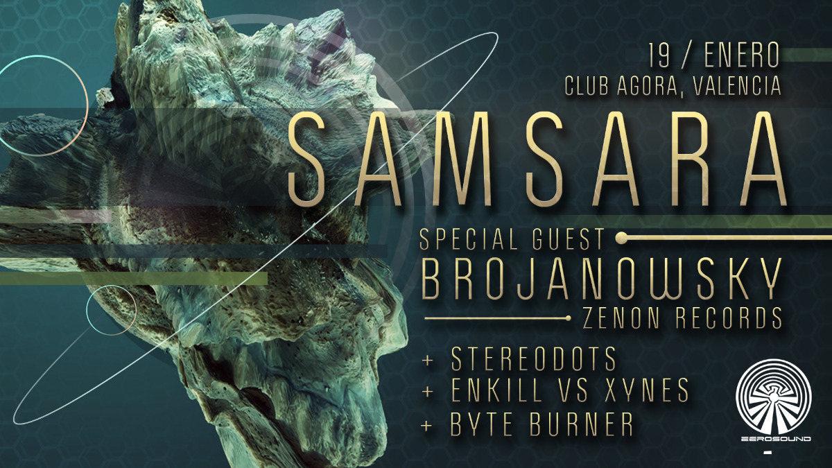 Party Flyer SaMsaRA -Brojanowsky- Agora Club 19 Jan '19, 23:00